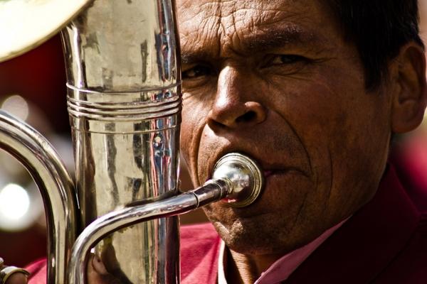 Músico del Carnaval de Oruro